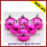 wholesale cheap christmas ornaments balls red glitter christmas ornaments balls made in china