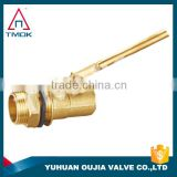 TMOK ansi standard brass ball float valve and thread material Hpb57-3 and one way motorized valve