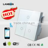 2015 Smart Home System Wifi Light Switch, Mobile Phone Control, Remote Control Switch from LANBON for Smart Home