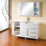 best sale modern bathroom cabinets/High glossy pvc thermofoil wood modern bathroom cabinets