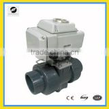 CTB series electric ball valve plastic material 12v 220c with manual override function ISO5211 standard for water treatment