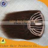 Wholesale Cheap Human Hair 5A quality 100% virgin remy half wig brazilian human hair extension