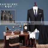 Black suit super 130's 100% wool new style wedding dress suits for men