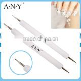 ANY Pure Color White Acrylic Handle Nail Art Dotting Tool 2015