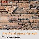 Light weight Stacked stone ledgestone manufactured popular faux fireplace stone
