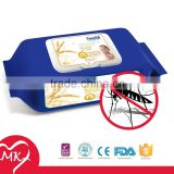 China Wipes Manufacturer made with Polyester & Viscose Nonwoven Industrial Wipes off mosquito repellent wipes