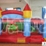 Inflatable little red bounce caslte with slide and ball pool