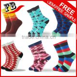 OEM services custom logo and brand name with different pattern colorful socks