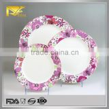 2015 new products custom printing plate, custom print melamine plates, photo printing ceramic plate