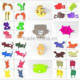 China Manufacturer BPA Free Silicone Cat/Bird/Elephant/Fish/Coala Adult Teether