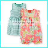 New design 2pcs newborn baby romper gift set lovely baby rompers soft baby girls cotton romper