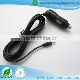 High quality Car Cigarette Lighter Power Plug Cord with yellow Tip DC plug power cable for car