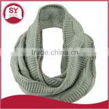 Acrylic knitted pattern Cable Round Neck Warmer for skiing