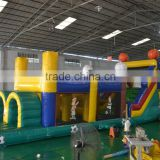 gaint Commercial jungle inflatable castle backyard inflatable jumper bouncer with slide