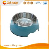 "Chi-buy Blue Detachable Dual Melamine pet bowl antiskid Dog cat food water bowl,S Size:3.93""LX5.51""WX1.77""H"