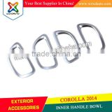 TOYOTA COROLLA ALTIS 2014 HANDLE COVER-INNER 14 ABS CHROME CAR INTERIOR DECORATION ACCESSORIES