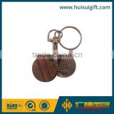 high quality promotional enamel token trolley coin keychain