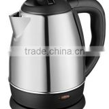 Small household appliance1.2L 360 degree base cordless stainless steel electric water kettle made in Zhongshan Baidu