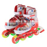 Buy inline skates adjustable four wheel machine moving roller skate for kids with light