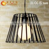 Metal cage Hive chandelier,glass shade birds cage chandeliers made in china