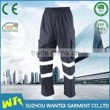 cheap 100% polyester mens navy blue trousers cargo work pants with high visibility reflective tape