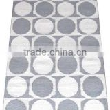 Circle design flat weave cotton dhurrie rugs