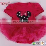 Kids Baby Girls Beautiful Flower Dress Princess Summer Short Sleeve Mini Tutu Dress Baby Girls Dress