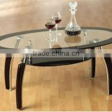 Glass Coffee Table Black Border With Shelf Living Room Furniture