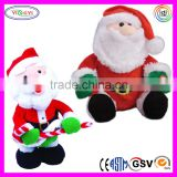 A067 Attractive Christmas Santa Claus Electronic Plush Musical Christmas Toy