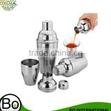 Stainless Steel Cocktail Shaker Cocktail Mixer Wine Martini Drinking Boston Style Shaker For Party Bar Tool 1Pcs 550ml