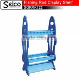 Simple structure plastic fishing rod display stand 16 holes fishing rod rack