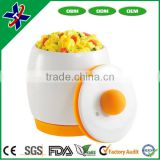 As Seen on TV Ceramic Microwave Silicone Buttom Egg Cooker