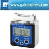 Magnets and Spirit Level +/-180 degree (0~360degree) Range +Data HOLD function Digital 360 degree Bevel Box / Inclinometer