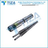 Conical Twin-screws and barrel for plastic machine
