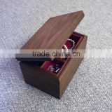 High Quality Black Walnut Jewelry Box Varnish Wooden Crate for Earrings Necklace Women Gift Box For Lady