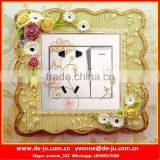 Decor Antique Flower Resin Wall Sticker
