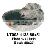 Vietnam Ceramic Wholesale Decoration Fish On Bowl Water Fountain