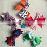 "Boutique Vintage Girls 4""-5"" Lg Grosgrain Ribbon Pinwheel Hair Bow Clips"