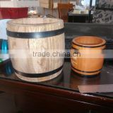 natural colour wooden coffee whisky wine barrel,bucket cask packing wit lid can print LOGO