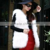 Wholesale Turkey Feather Fur Short Vest For Party Wedding Lady Fashion Fur Apparel