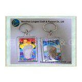 Creative gift rectangleacrylic keychain solid for photo insert