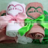 wedding present towel gift towel embroidery logo facecloth