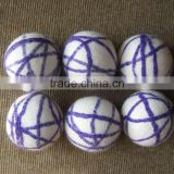 Color decoration New Zealand wool felted dryer ball/ Hot selling organic soft felt dryer ball/Nepal hand made felted dryer balls
