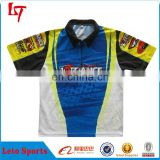 Factory price dry fit dart shirt/ Sublimation printing dart wear/Custom mens sports shirts