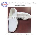 Factory directly wholesale cleanroom shoes white shoes anti static with canvas Vamp