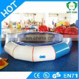 HI top quality 0.55mm PVC inflatable water trampoline for sale, floating trampolines for inflatable aqua park