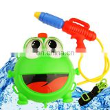 2016 summer outdoor plastic toy guns fight frog water gun with a backpack
