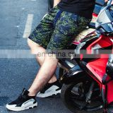 2017 summer full of printing blue green shorts pant beach men pants plus size pants for men