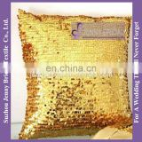 SQP012 gold sequin wholesale decorative throw pillow cover decor