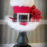 Christmas hats - Merry christmas wool hat,handmade woven hat with beard,wool felt christmas